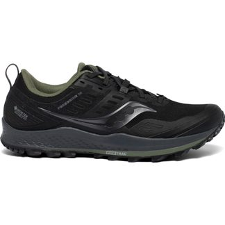 Saucony - Peregrine 10 GTX Trail Running Shoes Men black pine