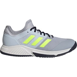 adidas - Court Team Bounce Indoor Shoes Men halo silver hi-res yellow halo blue