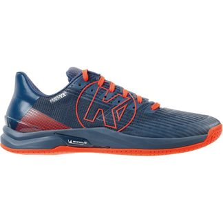 Kempa - Attack Three 2.0 Indoor Shoes Men ice grey fluo red