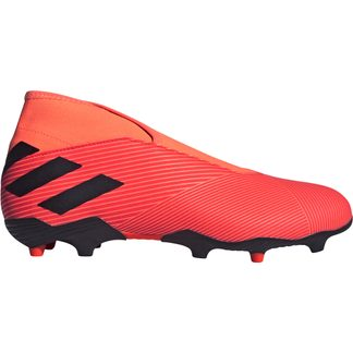 adidas - Nemeziz 19.3 Laceless FG Football Shoes Men signal coral core black solar red