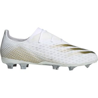 adidas - X Ghosted.2 FG Football Shoes Men footwear white metallic gold melange silver metallic