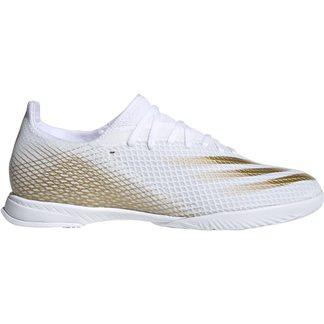 adidas - X Ghosted.3 IN Fußballschuhe Herren footwear white metallic gold melange footwear white