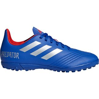 adidas - Predator 19.4 TF J Football Shoes Kids bold blue silver met active red