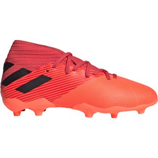 adidas - Nemeziz 19.3 FG Football Shoes Boys signal coral core black glory red