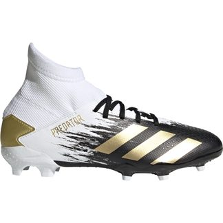 adidas - Predator Mutator 20.3 FG Football Shoes Boys footwear white gold metallic core black