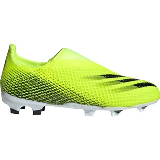 adidas - X Ghosted.3 Laceless FG Fußballschuhe Jungen solar yellow core black team royal blue