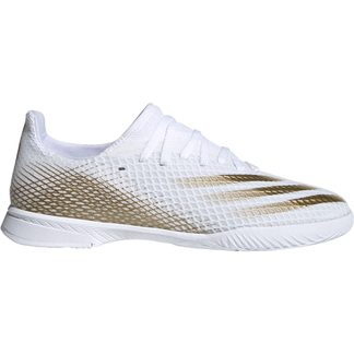 adidas - X Ghosted.3 IN Football Shoes footwear white metallic gold melange footwear white