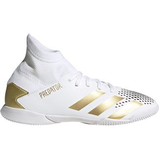 adidas - Predator Mutator 20.3 IN Football Shoes Boys footwear white gold metallic core black