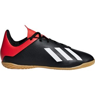 adidas - X Tango 18.4 IN J Football Shoes Kids core black off white active red