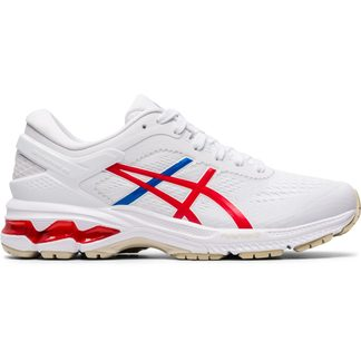 ASICS - Gel-Kayano 26 Running Shoes Women white classic red