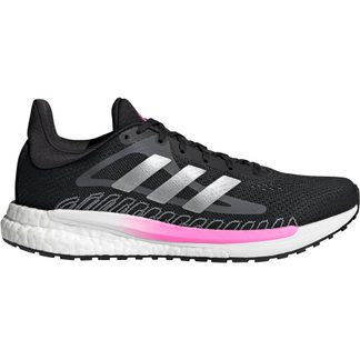 adidas - SolarGlide Laufschuhe Damen core black silver metallic screaming pink