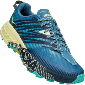 HOKA - Speedgoat 4 Running Shoes Women provincial blue luminary green