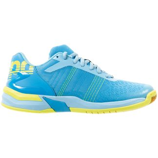 Kempa - Attack Contender Indoor Shoes Women cyan iceblue fluo yellow