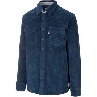 Picture - Graftons Shirt Men corduroy dark blue