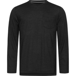 super.natural - City Langarm Herren jet black melange
