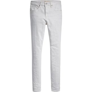 Levis - High Rise Skinny Jeans Women western white