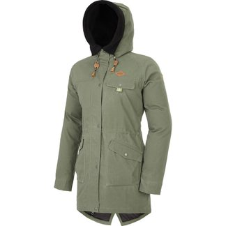 Picture - Window Parka Women army green
