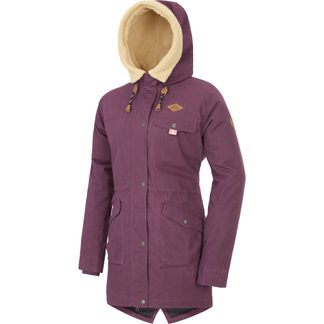 Picture - Window Parka Damen burgundy