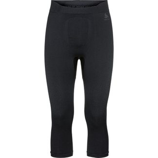 Odlo - Performance Warm Base Layer 3/4 Pants Men black new odlo grey