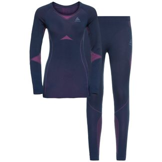 Odlo - Winter Specials Performance Evolution Warm Baselayer Set Women diving navy beetrot purple