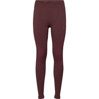 Odlo - Performance Warm Pants Women decadent chocolate cerise