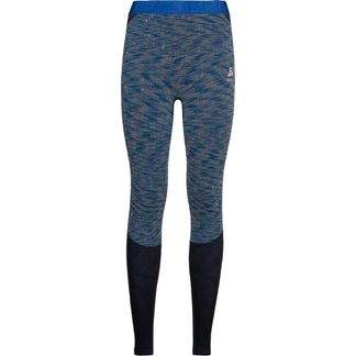 Odlo - Blackcomb Long Underpants Women blue tattoo space dye