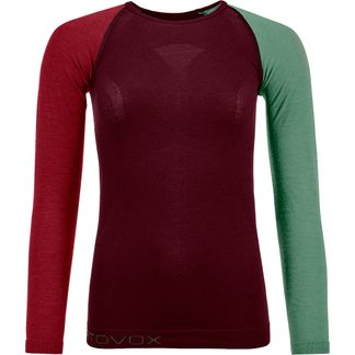 ORTOVOX - 120 Comp Light Long Sleeve Undershirt Women dark wine