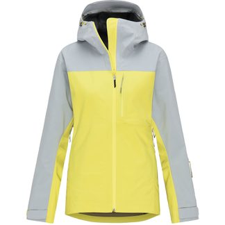 Pyua - Trace Hardshelljacke Damen french grey whistle yellow
