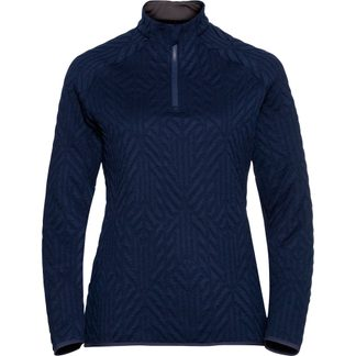 Odlo - Corviglia Kinship 1/2 Zip Midlayer Women diving navy