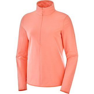 Salomon - Outrack Half Zip Midlayer Women burnt coral