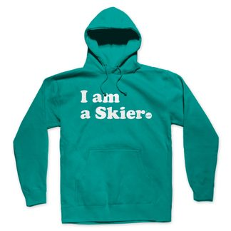 Line - I am a Skier Hoodie Women teal