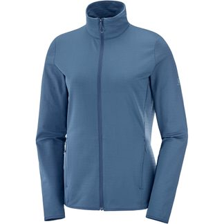 Salomon - Outrack Full Zip Midlayer Damen dark denim