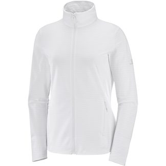 Salomon - Outrack Full Zip Midlayer Women white