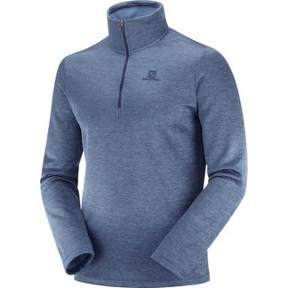 Salomon - Transition Half Zip Midlayer Men night sky