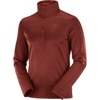 Salomon - Transition Half Zip Midlayer Men madder brown heather