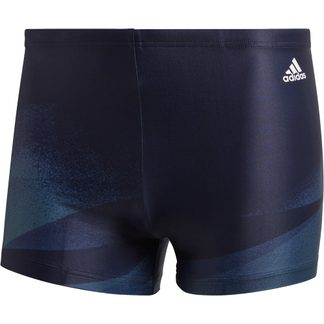 adidas - 3-Stripes Graphic Swim Briefs Men legend ink legacy blue