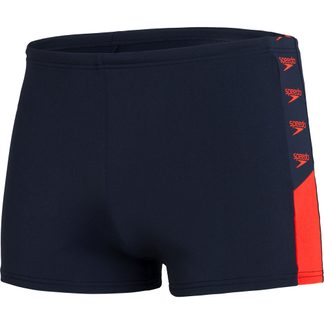 Speedo - Boom Logo Splice Aquashort Men true navy dragonfire orange