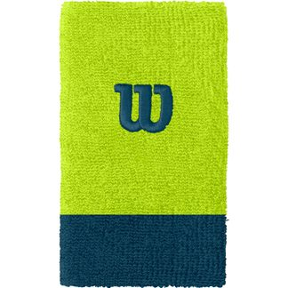 Wilson - Extra Wide W Wristband Men lime popsicle majolica blue