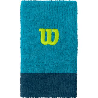 Wilson - Extra Wide W Wristband Men barrier reef majolica blue lime popsicle