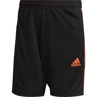 adidas - Primeblue Designed To Move Sport 3-Stripes Shorts Men black true orange